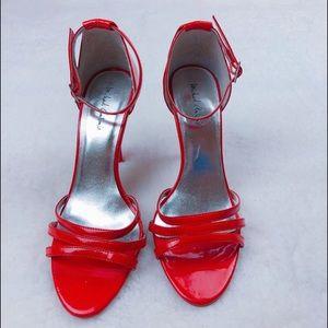Michael Antonio Red Leather Straps Heels